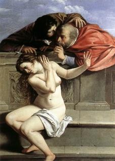 Suzanne et les vieillards, 1610, par Artemisia Gentileschi. Droits réservés