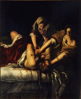 Judith tuant Holopherne (C.1614-20) par Artemisia Gentileschi. Droits réservés.