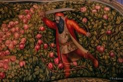 Une illustration sur un divan du mobilier national - ©Yndianna